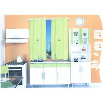 Cortina De Janela Para Cozinha Anny Enx. 1,75m X 1,43m Cinza