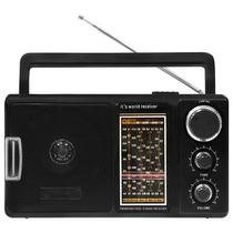 Rádio Portátil Am/fm/tv 12 Faixas Lenoxx- Rp69 Preto