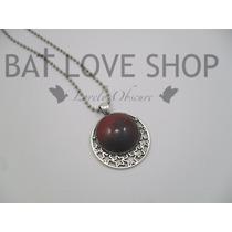 Collar Luna De Sangre Roja Gotico Dark Goth