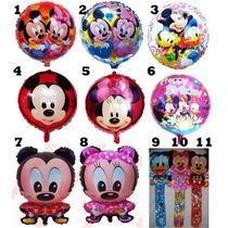 10 Globos Metalizados Mickey Minnie Bebes Princesas