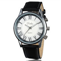 Relógio Dalas Quartz Original Importado Pulseira Em Couro Pu