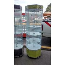Vitrina Octagonal Torre Aparador Exhibidor Mostrador Vidrio