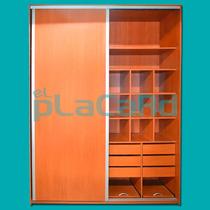 Placard Melamina Color A Eleccion 2x260x60 Rieles De Alumini