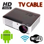 Proyector Led Multimedia Hd 2800 Lumens Android Wifi Tvcable