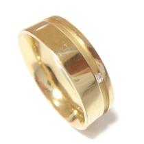 Vivara Anel Aliança Em Ouro 18k 750 E Diamante