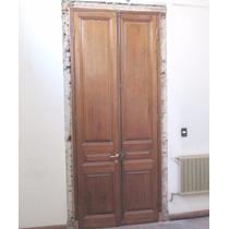 Puerta Antigua Cedro 2 Hojas Interior C/marcos Umbral