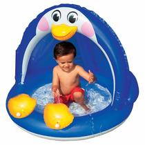 Piscina Inflable Pinguino Con Parasol Techo Para Bebe 57418