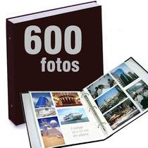 Álbum De Fotografias P/ 600 Fotos 10x15 Cm Preto Luxo