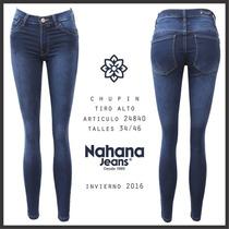 Jeans Elastizado Chupin Marca Nahana Talle 46