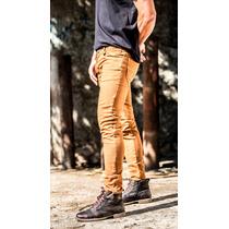 Calça Jeans Masculina Skinny Caramelo Bege Frete Grátis