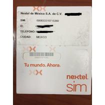 Chip Nextel Iden Prepago Lada De México.