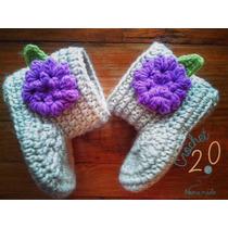 Botitas A Crochet Para Bebe Hechas A Mano.
