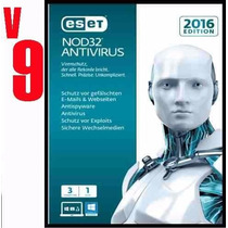 Eset Nod32 Antivirus V9 Licencia Original 3 Año X 1 Pc