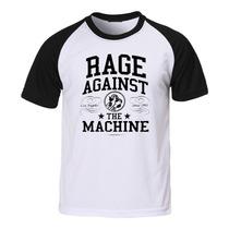 Camiseta Rage Against The Machine - Raglan - Rock Hardcore