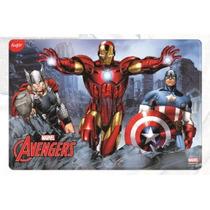 Placa Para Pastel Grande De Pvc Avengers Ciudad