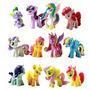 Win8fong 12 Piezas Conjunto Mi Pequeño Pony Juguetes Figurin