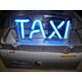 Aviso De Taxi Con Luz Imantado Transparente.