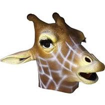 Máscara De La Jirafa: Máscara Deluxe Latex Animal