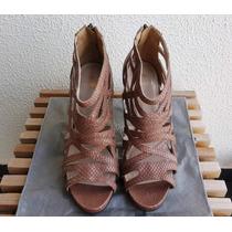 Sandália Gladiadora, Couro Snake - My Shoes - Nova!!