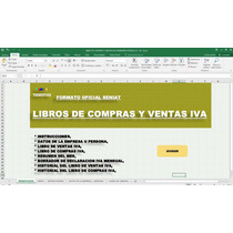 Libros De Compras Y Ventas Iva,formato Seniat