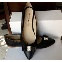 Zapatos Talla Grande 28.5 Mexicano, Moño Y Piedras