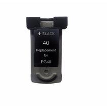 Cartucho Compativel Canon Pg40 Black Ip1200 Mp140 Mx310 Novo