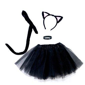 Disfraz Para Nia Spooky Gato Negro Gatito Juego Completo D