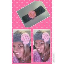 Bandana Con Flor Tejida A Crochet Por Creciones_dorita.