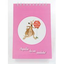 Caderno Para Canhotos Vertical Infantil Rosa - Gráfica Delta