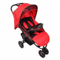 Carrinho De Bebê 3 Rodas Street Vermelho - Dardara