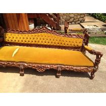 Sofa estilo colonial em madeira m veis antigos no - Sofas estilo colonial ...