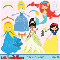 Kit Imprimible Princesas Disney Png Clipart [237]