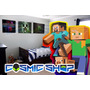 Minecraft Placa Decorativa Vinil Adesivo 30x20cm Compre Leve