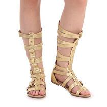 Sandália Rasteira Gladiadora Feminina Dakota - Ouro