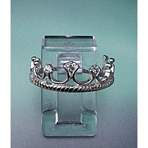 Anillo Corona En Plata Fina Ley.925 Sterling Silver