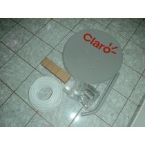 Antena Claro Tv 60cm C/lnbf Simples Mais Cabo Pac Com 05