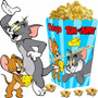 Kit Imprimible Tom Y Jerry Tarjetas Invitaciones + Candy Bar