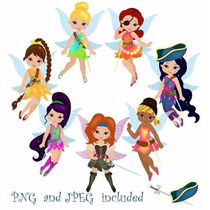 Kit Imprimible Tinker Bell Campanita 4 Imagenes Clipart