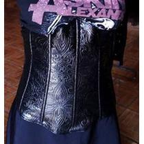 Cinturilla Con Charol Brocado, Gótico, Dark,