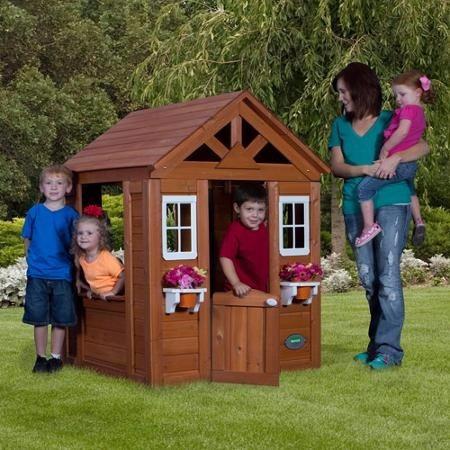 Casita infantil casa de juego para ninas de madera lavabo for Casita de juegos para jardin