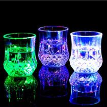 Vaso Luminoso Iluminado Led Multicolor Fiestas Colores 8 Oz