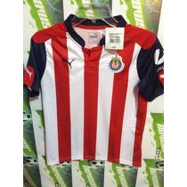 Jersey Chivas Rayadas D Guadalajara Puma 100%original D*niño
