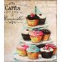 Cupcake Bolo Placa Decoração Retro - Cozinha Copa Lanchonete