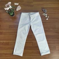 Jeans Blanco Aeropostale Pierna 3/4 Capri Talla 38