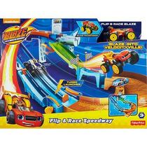 Blaze Monster Machines Pista Carreras Flip And Race Speedway