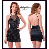 Vestido Ajustado Corto Espalda Descubierta Moda Pasión
