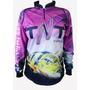 Camiseta Sublimada De Pesca Tnt Protecao Solar Tucunare-rosa