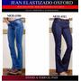 Jean Elastizado Oxford Tiro Medio Azul T36-48 (2010)