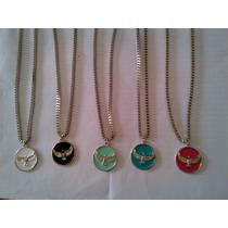 Collar Con Dije Aguila , Pendulo De Metal , Cuerno Amuleto