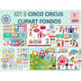 1 Kit Imprimible X 8 Sets Circo Publicidad Folleto Artesania